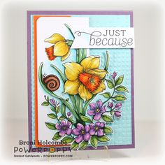 Dancing with Daffodils from Power Poppy! - Splashes of Watercolor