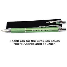 Martin Laser Grip Pen, featuring Thank You for the Lives You Touch, Youre Appreciated So Much! design - Event Promotions Now - Gifts for your event