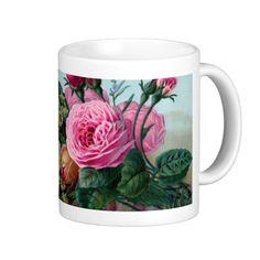 Vintage Victorian Roses Mug