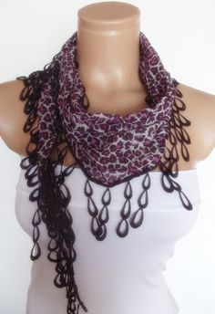 2012 summer fashion scarf with lace new design by smilingpoet, $12.90.....Maid of Honor?