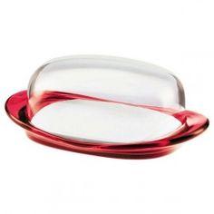 Beurrier Look  transparent / rouge Guzzini 20.90 € livré gratuitement dans le relais colis de votre choix !