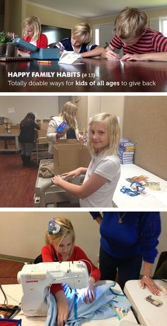 Awesome easy suggestions for ways for kids of all ages to give back - love the library book idea!