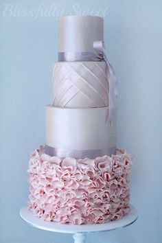 Couture Inspired Engagement Cake - by BlissfullySweet @ CakesDecor.com - cake decorating website