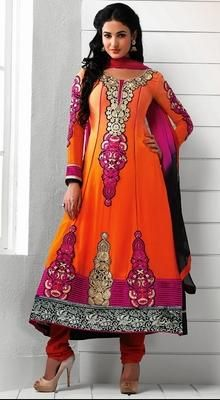 Sonal Chauhan Chiffon and Georgette Anarkali Suit