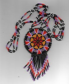 native american beadwork. via Etsy.