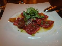 Kobe steak sashimi at Cut Las Vegas..Super Food Orgasm every time we have gotten this!!!!!!!