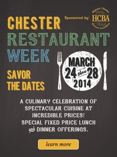 Some great events in Chester, NJ coming up.  #chesternj #restaurantweek #easteregghunt