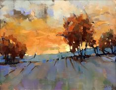 Evening Magic by Trisha Adams Oil ~ 16 x 20 Orange, VA Pastel Landscape, Landscape Artwork, Abstract Landscape Painting, Abstract Art, Selling Paintings, Oil Paintings, Pastel Art, Tree Art, Painting Techniques