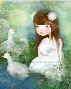 The Goose Girl by solocosmo.deviantart.com on @deviantART