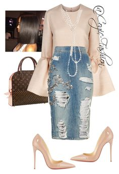A fashion look from August 2017 featuring Roksanda tops, Christian Louboutin pumps and Chanel necklaces. Browse and shop related looks. Fashion Mode, Modest Fashion, Look Fashion, Runway Fashion, Autumn Fashion, Womens Fashion, Fashion Trends, Classy Outfits, Chic Outfits