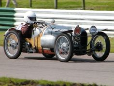 Designed and built car as a racing Austin Seven Special in wood wire and aluminium in the style of a Brooklands 1920s car. Clearly it is very low, small and built around its owner Amanda