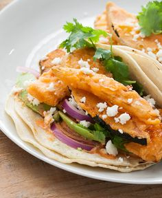 Delicious flaky squash tacos with a kick of Spanish paprika - yum!