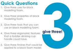 Quick questions - give 3!