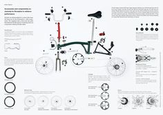 Brompton folding bike showing the variety of components Cycling Art, Cycling Bikes, Velo Brompton, Velo Vintage, Folding Bicycle, Cargo Bike, Bike Design, Exploded View, Bicycle Parts
