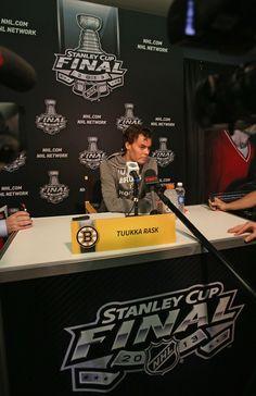 Tuukka Rask - NHL Stanley Cup Final Media Day
