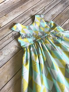 Your place to buy and sell all things handmade Frocks For Girls, Dresses Kids Girl, Cute Dresses, Kids Outfits, Baby Dresses, Girls Frock Design, Kids Frocks Design, Baby Frocks Designs, Kids Dress Patterns
