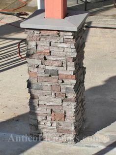 Faux Stone Column Wraps With Easy Install Kit Pole Wrap