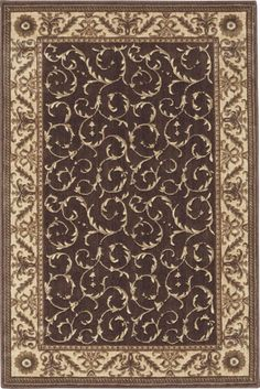 """Nourison Somerset Collection St02 3'6"""" X 5'6"""" Area Rug, Ivory Blue"""