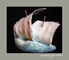 """Lab Art: """"SEARCHING FOR ORION"""" ~ Salvaged, and transformed, cast-off plaster from Orthotic & Prosthetic lab(s). created: 2002 Jo Ann Smith-Young"""