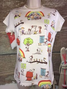 Doe Presents Peanuts Snoopy Charlie Brown Awareness Rainbows Size Large   Collectibles, Animation Art & Characters, Animation Characters   eBay!