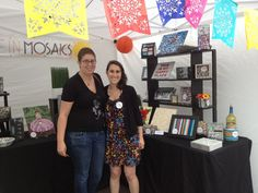 An archaeologist enjoyed visiting the Live In Mosaics booth at SoWa Open Market