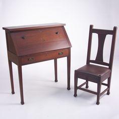roycroft furniture   Rago Arts & Auction Center Image 1 ROYCROFT Mahogany drop-front ...