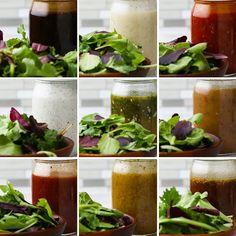 Mason Jar Salad Dressings 9 Ways