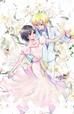 Tamaki and Haruhi dancing