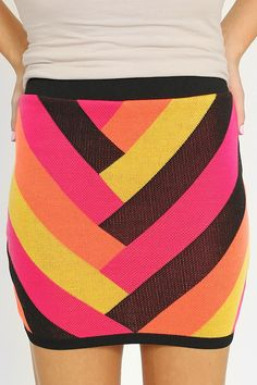 SALE!!!! Neon Chevron Skirt only $10.00. GET  %10 OFF WHEN YOU SIGN UP WITH THIS LINK http://modernego.com?r=5086
