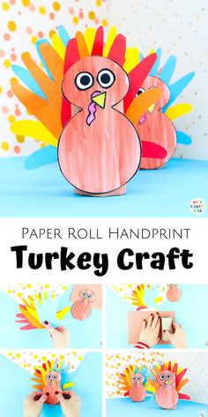 Add this easy Toilet Paper Roll Turkey Handprint Craft to your list of Thanksgiving crafts to try with the kids this fall. This is a fab Handprint Turkey craft for preschoolers and young children that doubles up as a special keepsake. Diy Gifts For Kids, Easy Crafts For Kids, Craft Activities For Kids, Toddler Crafts, Party Activities, Craft Ideas, Preschool Valentine Crafts, Easter Crafts, Turkey Handprint
