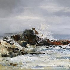 """Daily Paintworks - """"Sea Escape Series - Original Fine Art for Sale - © Helen Harris Chinese Scroll, Gallery Website, Fine Art Gallery, The Rock, Original Paintings, Surfing, Landscapes, College, Ocean"""