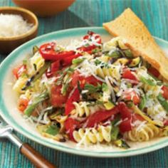 Pasta with Mixed Grilled Vegetables