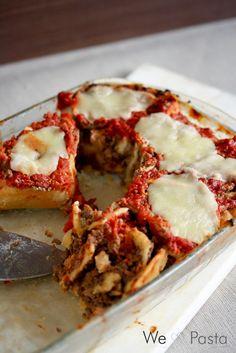Nudelschneckenauflauf mit Tomaten und Mozzarella - pasta bun bake with tomato-mozzarella-stuffing