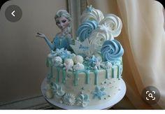 Elsa Birthday Cake, Frozen Themed Birthday Cake, Frozen Theme Cake, Cute Birthday Cakes, Beautiful Birthday Cakes, Themed Cakes, Disney Frozen Cake, Frozen Cupcakes, Creative Cake Decorating
