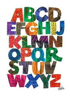abc from eric carle decorative prints set