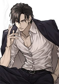 Dark Anime Guys, Hot Anime Boy, Cute Anime Guys, Anime Boys, Character Inspiration, Character Art, Handsome Men Quotes, Anime Boy Zeichnung, Art Drawings Beautiful