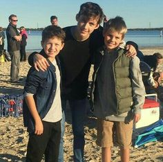 "Troye with the kids from ""Wild"""