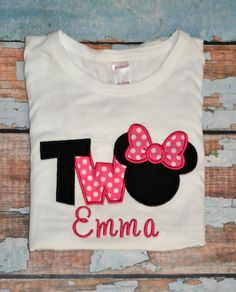 858a5e9c I'm twodles Minnie Mouse, Girls birthday Shirt, 2nd birthday shirt, Two