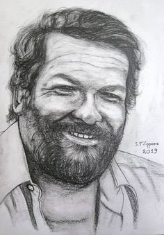 Original Portrait Drawing by Simone Filippone Graphite Drawings, Drawing Sketches, Pencil Art, Pencil Drawings, Terence Hill, Italian Art, Star Art, Drawing People, Metropolitan Museum