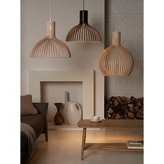 Buy Secto Victo Ceiling Light, Birch Online at johnlewis.com