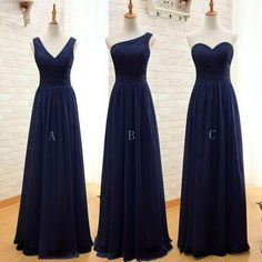 Mismatched Chiffon Simple Cheap Long Wedding Bridesmaid Dresses, WG357 – LoverBridal