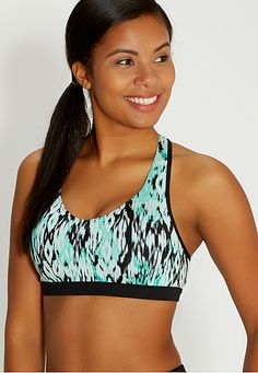 sport bra in ethnic print (original price, $24) available at #Maurices