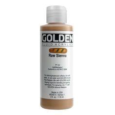 Golden Fluid Acrylics 4oz.