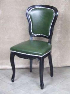 Krzesło Ludwik, skóra naturalna, czarne - Okazaja! Koło - image 2
