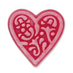 Faca e Embossing Sizzix Embosslits - Heart, Lace KG28-F90.