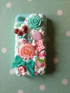 Beautiful whipped cream decoden phone case for iPhone 4 but can be made for any phone