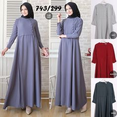 Batik Fashion, Abaya Fashion, Muslim Fashion, Fashion Dresses, Dress Muslim Modern, Muslim Dress, Hijab Style Dress, I Dress, Modele Hijab