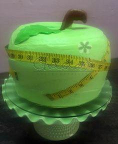 Pastel en forma de manzana verde Chocolart