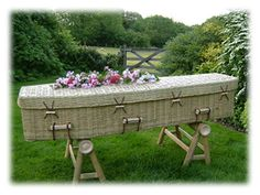 Home funeral care - a revival in family-directed funerals. Learn how easy, more intimate and less expensive it is to arrange a simple, green burial. Monuments, Green Funeral, Funeral Caskets, Funeral Planning, Funeral Ideas, Recycling, Museum, Outdoor Furniture Sets, Outdoor Decor
