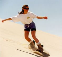 Sandboarding, for summer riding